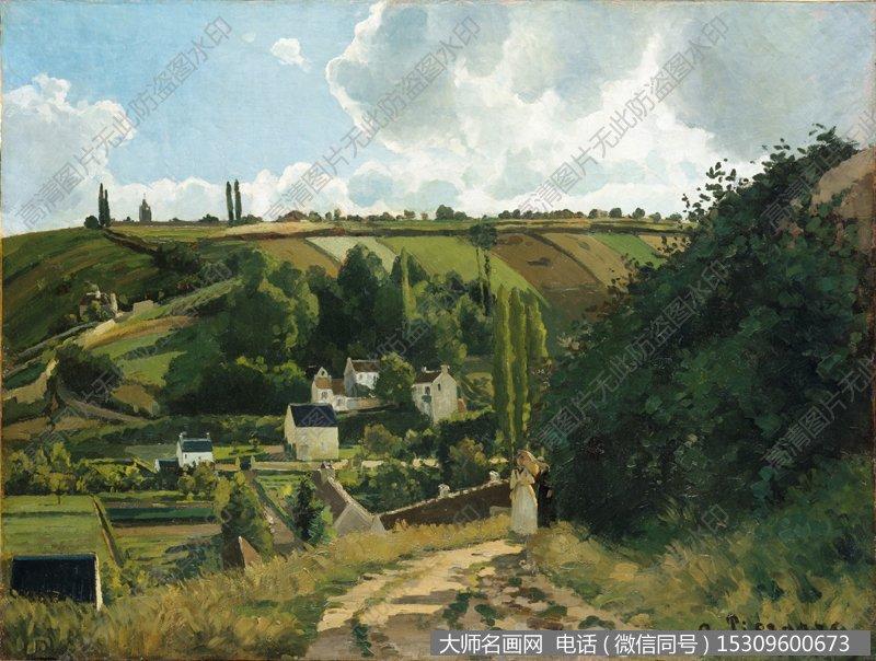 毕沙罗 风景油画作品25 高清图片下载