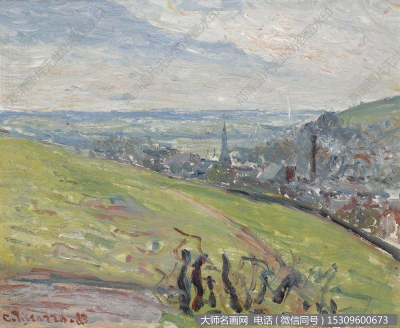 毕沙罗 风景油画作品32 高清图片下载