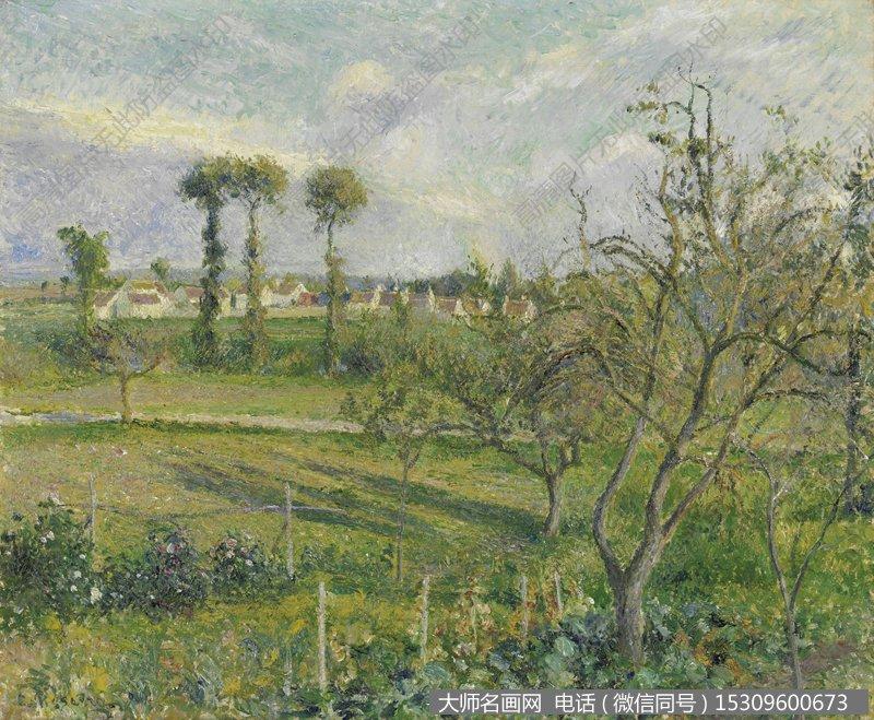 毕沙罗 风景油画作品33 高清图片下载