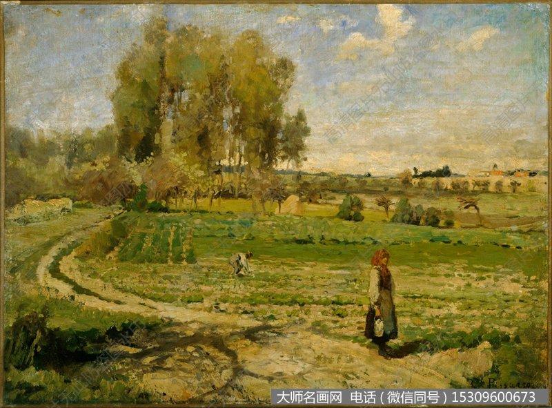 毕沙罗 风景油画作品35 高清图片下载