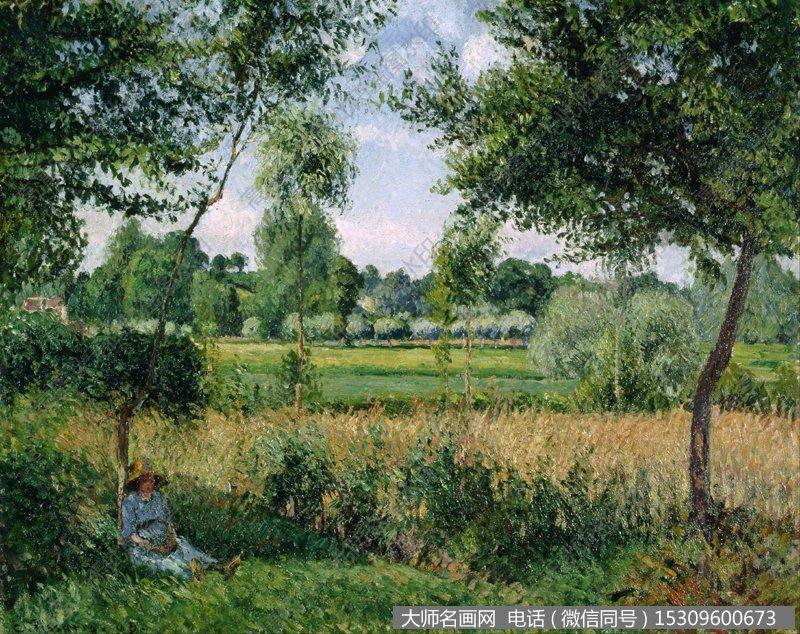 毕沙罗 风景油画作品39 高清图片下载