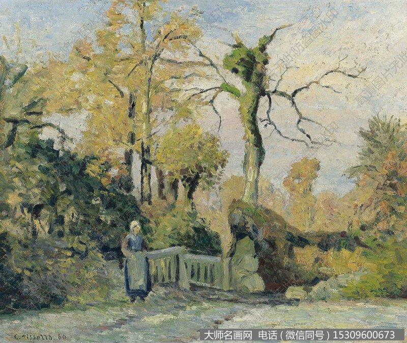 毕沙罗 风景油画作品1 高清图片下载