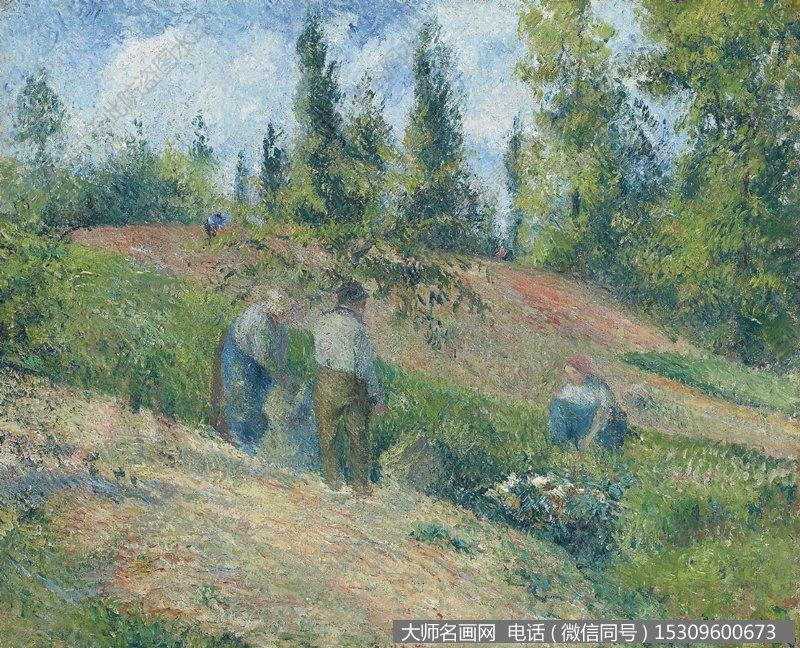 毕沙罗 风景油画作品5 高清图片下载