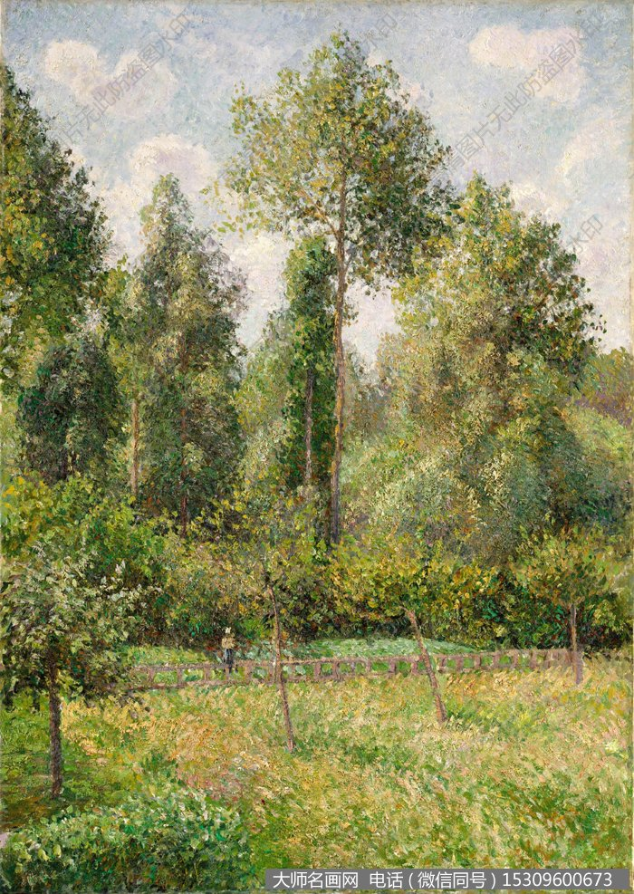 毕沙罗 风景油画作品8 高清图片下载