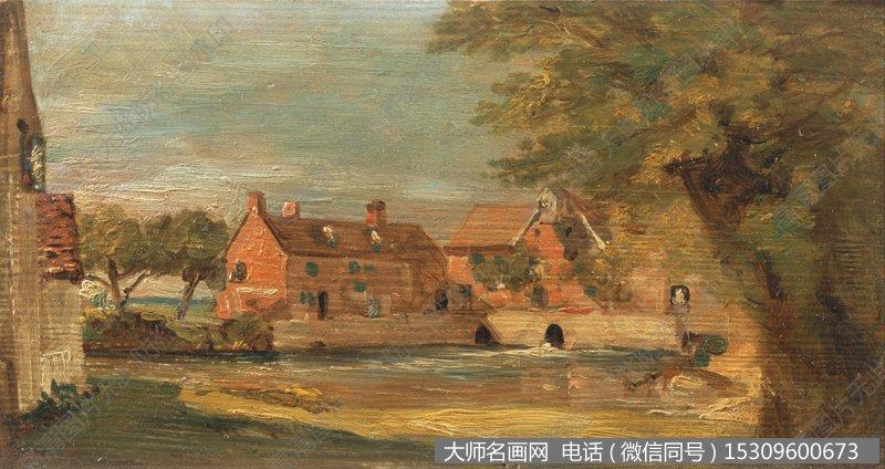 康斯太勃尔 风景油画作品18 高清大图下载
