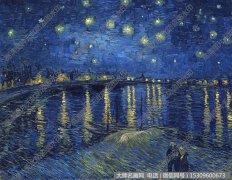 梵高名画作品《罗纳河上的星夜》高清图片下载