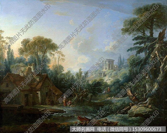布歇 风景油画 高清大图54 下载