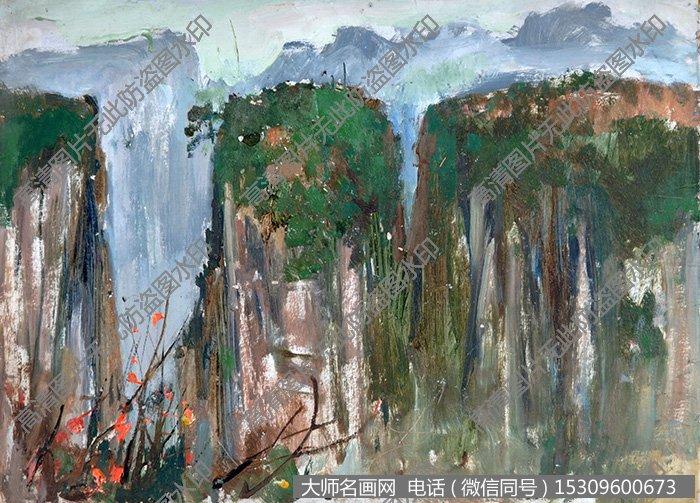 张家界 油画作品高清大图63下载:      下载的图片为jpg格式无水印超
