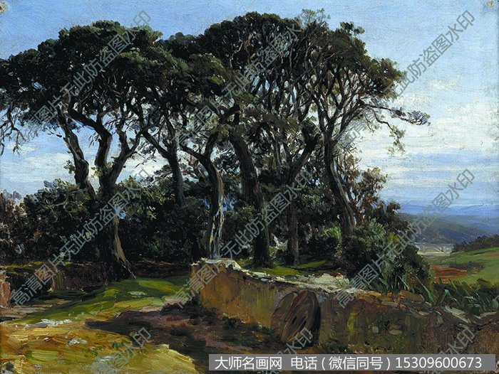 古典风景油画 油画作品高清大图1下载