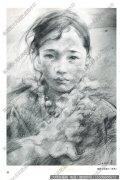 艾轩素描《藏族女孩速写》作品高清下载