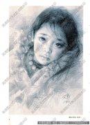 艾轩素描《藏族小姑娘》作品高清大图下载
