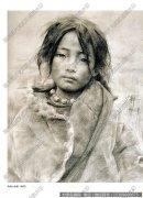 艾轩素描《藏族小姑娘》作品高清下载