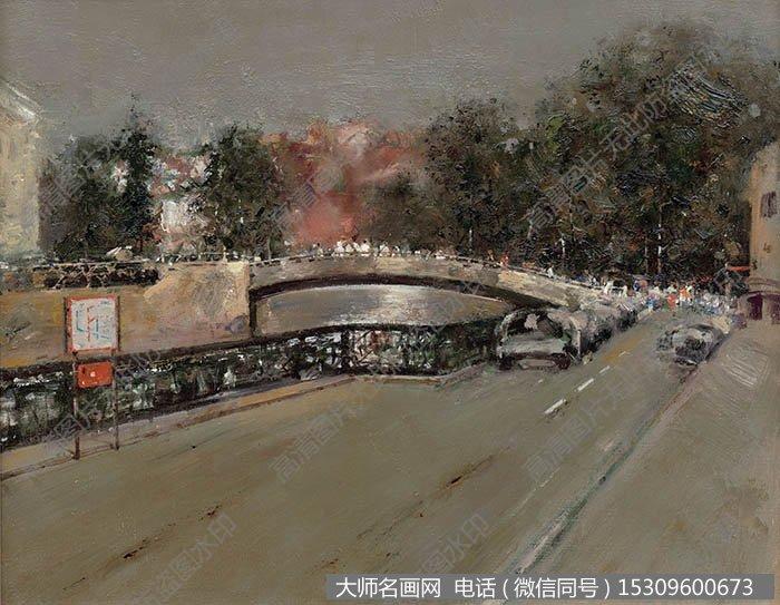 郭润文《风景油画_圣彼得堡街景》 高清名画作品下载